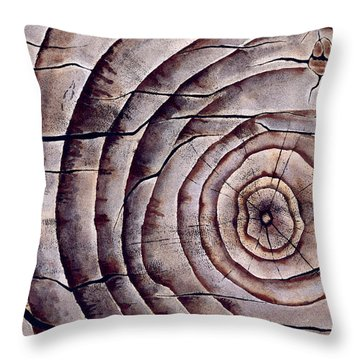 Ageless In Walnut Throw Pillow