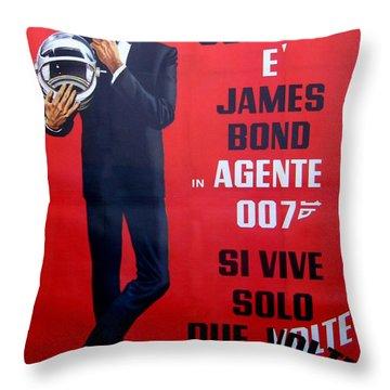 Agente 007 Si Vive Solo Due Volte Throw Pillow by Georgia Fowler