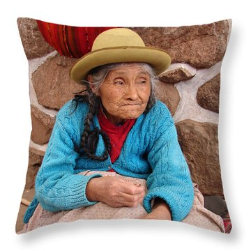 Aging Beautifully Throw Pillow by Ramona Johnston
