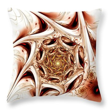 Agitation Throw Pillow by Anastasiya Malakhova