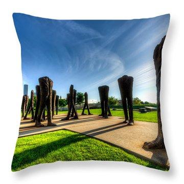 Agora Sculpture In The Morning  Throw Pillow