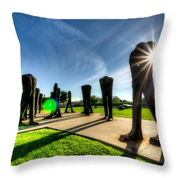 Agora Sculpture In The Morning With Sunburst Throw Pillow