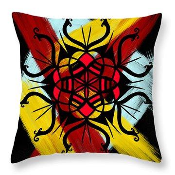Agressive Ornament Throw Pillow