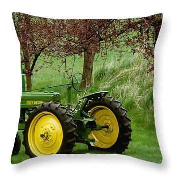 Agriculture - Restored 1940 John Deere Throw Pillow