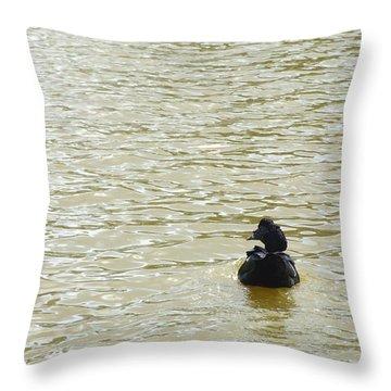 Agua Pato Throw Pillow