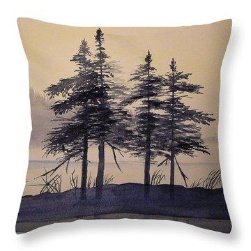 Aguasabon Trees Throw Pillow