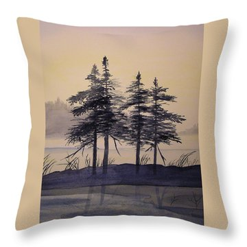 Aguasabon Trees Throw Pillow