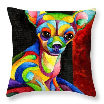 Ah Chihuahua Throw Pillow
