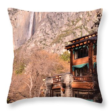 Ahwahnee And Yosemite Falls Throw Pillow