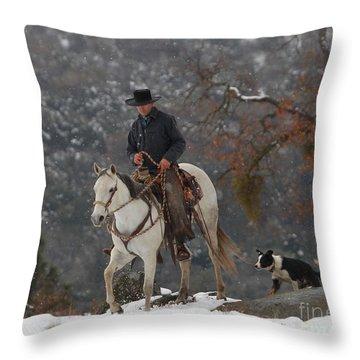 Ahwahnee Cowboy Throw Pillow