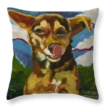 Ai Chihuahua Throw Pillow by Katrina West