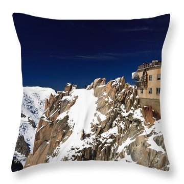 Aiguille Du Midi -  Mont Blanc Massif Throw Pillow