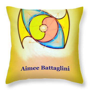 Aimee Battaglini Throw Pillow by Ahonu