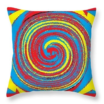 Aimee Boo Swirled Throw Pillow by Catherine Lott