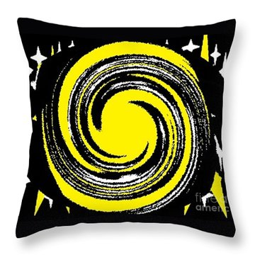 Aimee Starry Night Throw Pillow by Catherine Lott