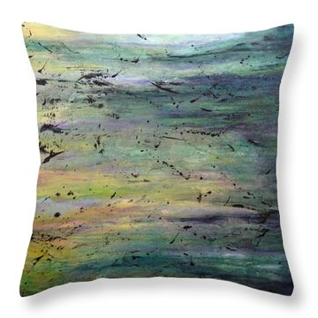 Air And Substance Throw Pillow