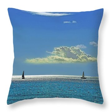 Air Beautiful Beauty Blue Calm Cloud Cloudy Day Throw Pillow by Paul Fearn