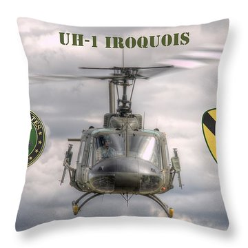 Throw Pillow featuring the photograph Air Cavalry by Jeff Cook
