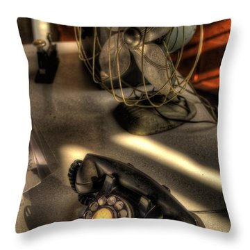 Air Conditioned Office  Throw Pillow