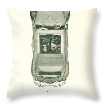 Air Cooled People Throw Pillow by Georgia Fowler