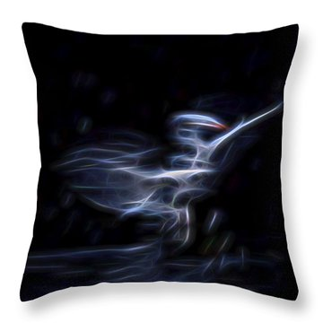 Throw Pillow featuring the digital art Air Elemental 1 by William Horden