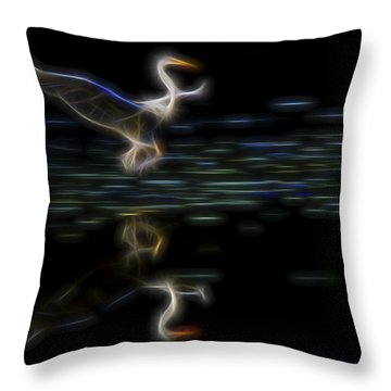 Throw Pillow featuring the digital art Air Elemental 2 by William Horden