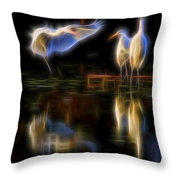 Throw Pillow featuring the digital art Air Elementals 2 by William Horden