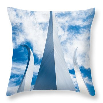 Air Force Monument Throw Pillow