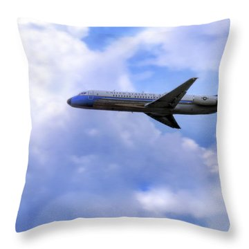 Air Force One - Mcdonnell Douglas - Dc-9 Throw Pillow by Jason Politte