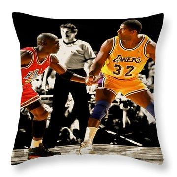 Air Jordan On Magic Throw Pillow by Brian Reaves