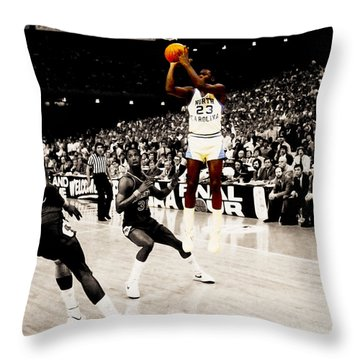 Air Jordan Unc Last Shot Throw Pillow