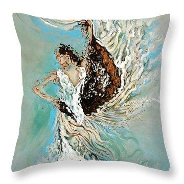 Air Throw Pillow by Karina Llergo