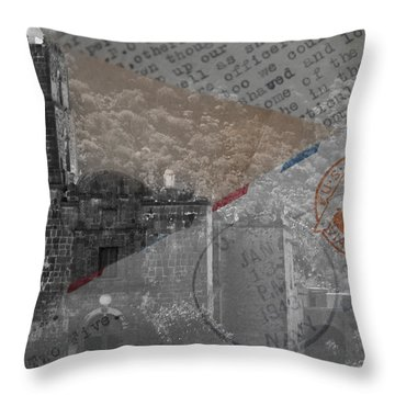 Throw Pillow featuring the digital art Air Mail by Kandy Hurley
