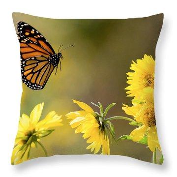 Air Monarch Throw Pillow