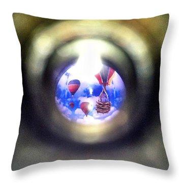 Air Peep Throw Pillow