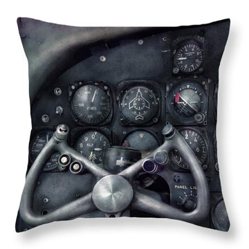 Air - The Cockpit Throw Pillow