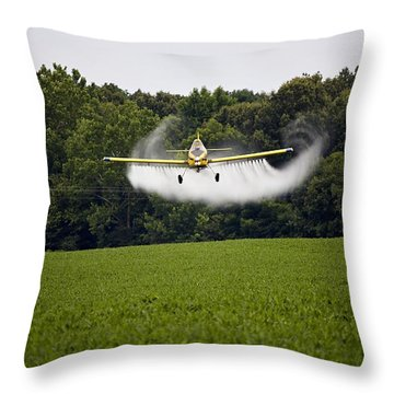 Air Tractor Throw Pillow