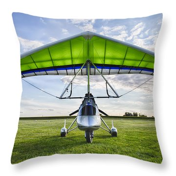 Airborne Xt-912 Microlight Trike Throw Pillow