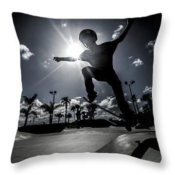 Airbound Throw Pillow