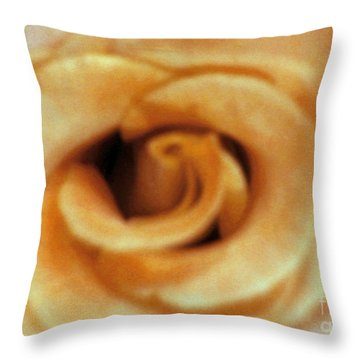 Airbrush Rose Throw Pillow
