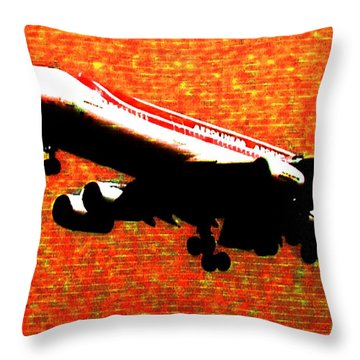 Airbus 340 Throw Pillow by Marcello Cicchini
