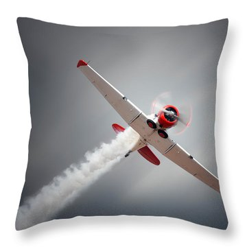Aircraft In Flight Throw Pillow