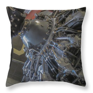 Aircraft Piston Engine Throw Pillow
