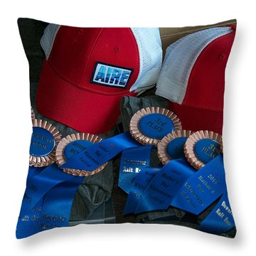 Aire Cap Prizes Throw Pillow