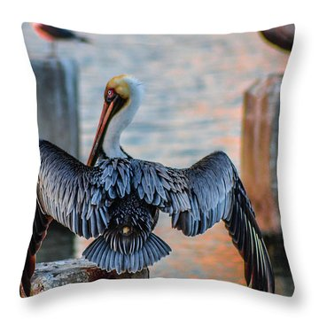 Airing Out Throw Pillow
