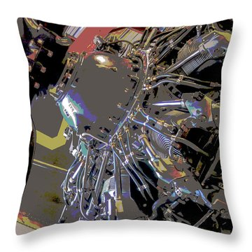 Airplane Engine - Abstract  Throw Pillow