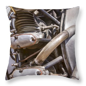 Airplane Engine Throw Pillow