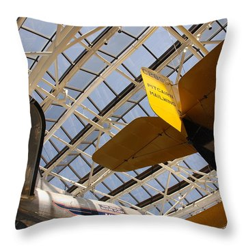 Airplane Rudders Throw Pillow