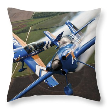 Airplanes Perform At The Sound Of Speed Throw Pillow by Stocktrek Images