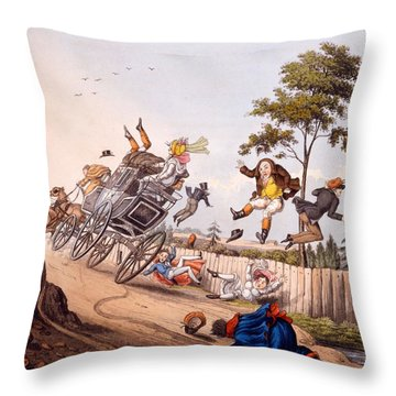 Airy Nothings, Or Scraps And Naughts Throw Pillow by M. Egerton